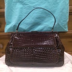 TIFFANY & CO. Brown Crocodile Laurelton Bag